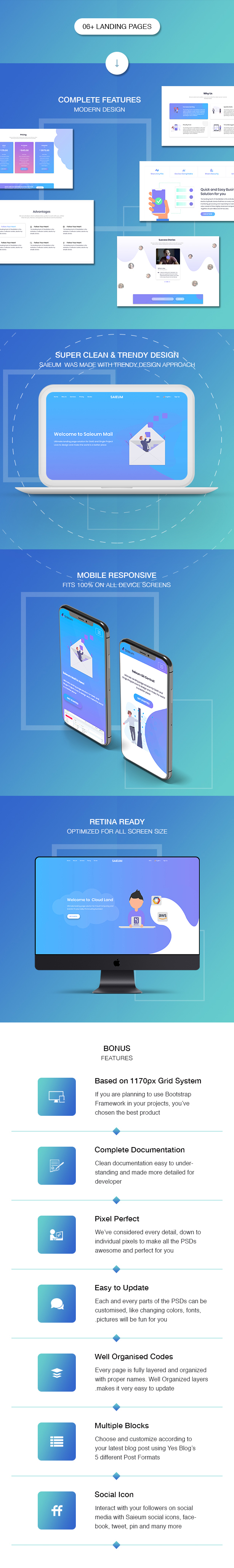 Broland - One page SaaS, Agency and Start up HTML Template - 2